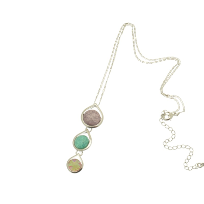 Lilac and Mint Necklace