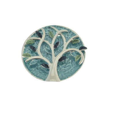 Teal Tree Brooch