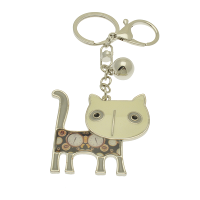 FKR236 White Cat Keyring