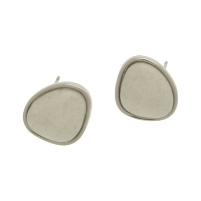 FE82 White Stone Resin Earrings