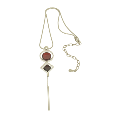 FN341 Red Spindle Necklace
