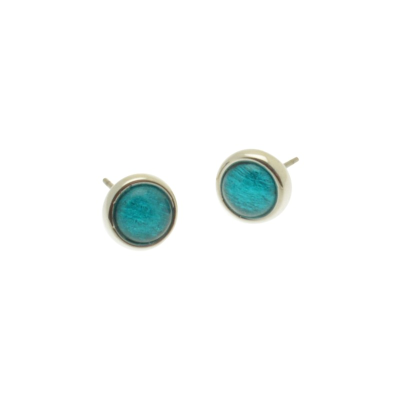 Teal Tin Resin Studs