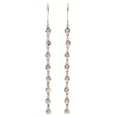 CE58 Long Crystal Earrings