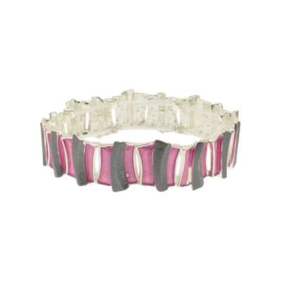 FB315 Grey & Pink Bar Bracelet