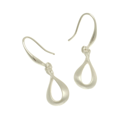 FE378 Silver Twist Earrings