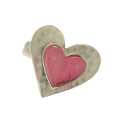 FR262 Pink Heart Ring