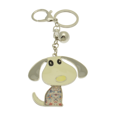 FKR237 White Dog Keyring