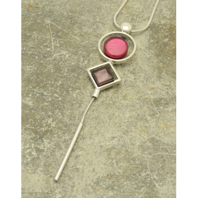 FN341 Pink Spindle Necklace