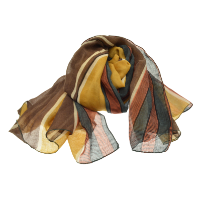 Mustard and Red Scarf