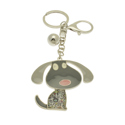 FKR237 Grey Dog Keyring