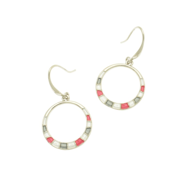 Grey and Pink Earrings
