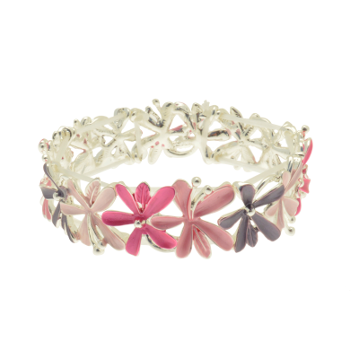 FB316 Pink Bouquet Bracelet