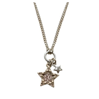 CN61 Rose Star Crystal Necklace