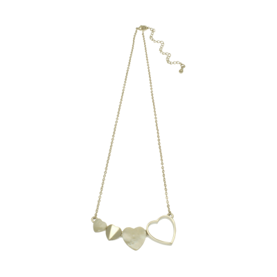 FN293 White Heart Necklace