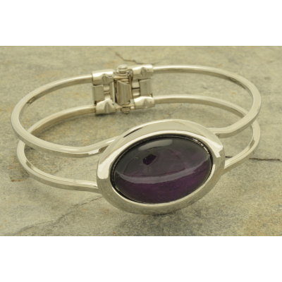 FB66 Purple Foil Resin Bracelet