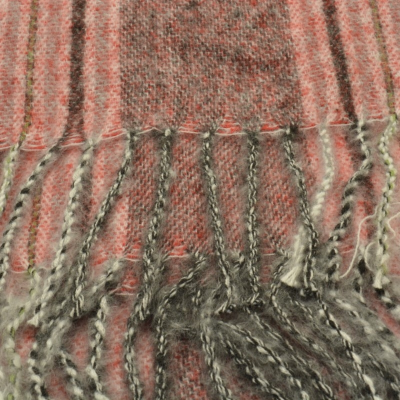 SC181 Red Striped Scarf