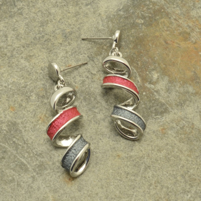 Red Ribbon Earrings