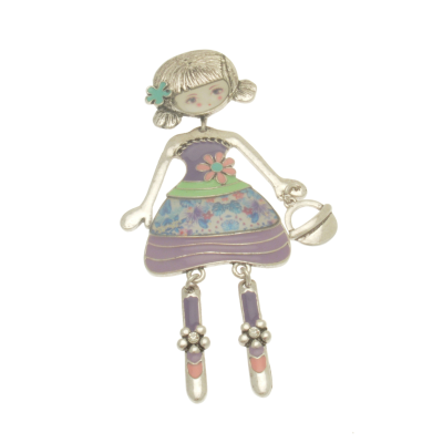 FBR272 Purple Girl Brooch