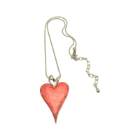 FN211 Pink Heart Necklace