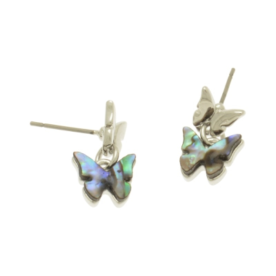 FE395 Paua Butterfly Earrings