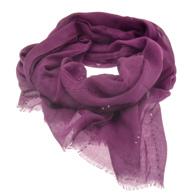 SC154 Purple Sequin Scarf