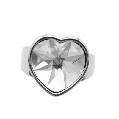 CR54 Crystal Heart Ring