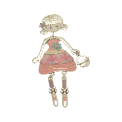 FBR272 Pink Girl Brooch