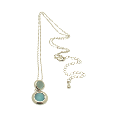 FN393 Blue Duo Necklace