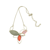 FN344 Coral Cluster Necklace