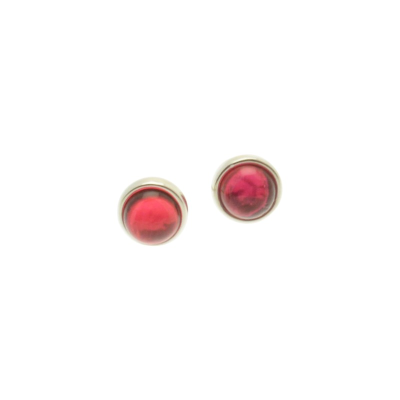 Pink Shell Resin Studs