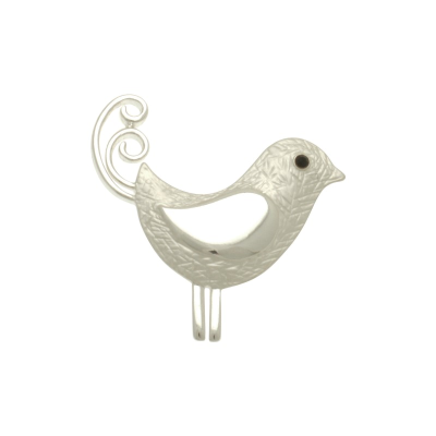 Silver Bird Brooch