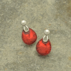 Dark Red Resin Earrings