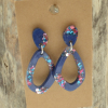 Blue Statement Earrings
