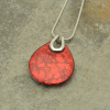 Red Punch Necklace on Slate