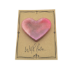 Pink Magnetic Heart on Card
