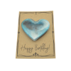 Turquoise Magnetic Heart on Card