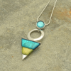 Turquoise and Lime Necklace