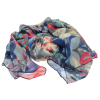 SC174 Blue and Pink Floral Scarf