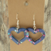 Blue Sparkle Heart Earrings