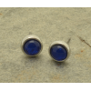 FE127 Blue Foiled Stud earrings