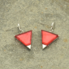 Bright Pink Pyramid Earrings