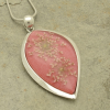 Pink Real Flower Pendant