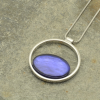 Blue Resin Lozenge Necklace