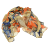 SC174 Yellow Abstract Floral Scarf