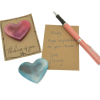 Hearts with pen