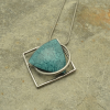 Teal Resin Necklace